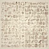 Grupo grande de ícones para ocasiões diferentes ilustração stock