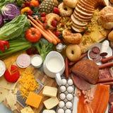 Grupo grande de alimentos Fotos de archivo