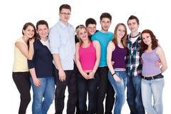 Grupo grande de amigos imagen de archivo