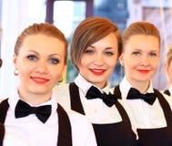 Grupo grande de camareros Fotos de archivo