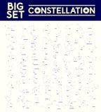 Grupo grande de constelações, ilustração do vetor ilustração stock