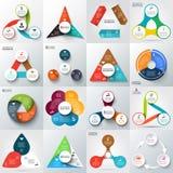 Grupo grande de elementos do vetor para infographic Imagens de Stock