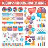 Grupo grande de elementos infographic do negócio para a apresentação, o folheto, a site e os outros projetos Moldes abstratos do  ilustração royalty free