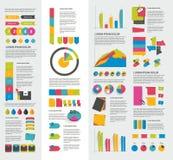 Grupo grande de elementos infographic lisos Foto de Stock