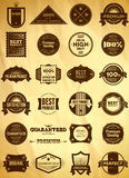 Grupo grande de etiquetas superiores da qualidade do vintage Imagem de Stock