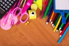 Grupo grande de ferramentas do escritório Imagens de Stock