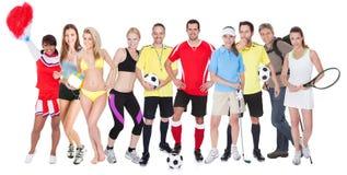 Grupo grande de gente de los deportes foto de archivo libre de regalías