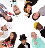 Grupo grande de gente de los trabajadores de la diversidad Foto de archivo libre de regalías
