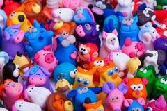 Grupo grande de juguetes de la arcilla Imágenes de archivo libres de regalías