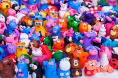 Grupo grande de juguetes de la arcilla Imagen de archivo libre de regalías