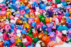 Grupo grande de juguetes de la arcilla Foto de archivo libre de regalías
