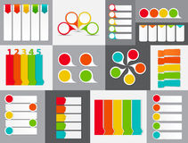 Grupo grande de moldes da bandeira de Infographic para o seu Fotografia de Stock Royalty Free
