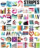 Grupo grande de moldes modernos infographic - linhas Foto de Stock Royalty Free