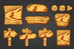Grupo grande de placas de madeira Imagem de Stock