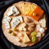 Grupo grande de queijos Imagem de Stock