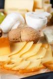 Grupo grande de queijos Foto de Stock Royalty Free