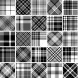 Grupo grande de testes padrões sem emenda da tartã Imagens de Stock