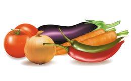 Grupo grande de vegetais. Fotos de Stock