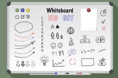 Grupo grande do whiteboard imagens de stock royalty free