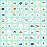 Grupo grande dos ícones de SEO Foto de Stock