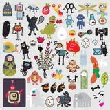 Grupo grande dos monstro bonitos diferentes #3. Fotos de Stock