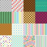Grupo grande dos testes padrões simples sem emenda retros abstratos eps10 Fotografia de Stock