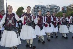 Grupo griego del folclore Imagen de archivo libre de regalías