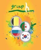 Grupo H de la taza de mundo Imagen de archivo