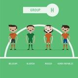 Grupo H dos jogadores de futebol ilustração do vetor