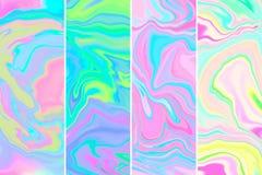 Grupo holográfico de mármore dos fundos da quadriculação do sumário ilustração do vetor