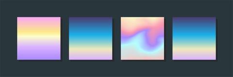 Grupo holográfico do líquido Fundo do inclinação Molde na moda para o cartão, apresentação do moderno, bandeira, inseto, folheto ilustração stock