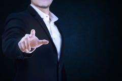 Grupo 9 homem de negócio que actua suas mãos Imagens de Stock
