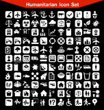 Grupo humanitário do ícone Imagens de Stock