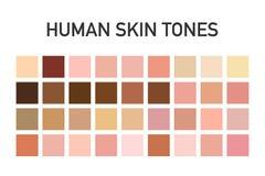 Grupo humano da paleta de cores do tom de pele isolado no fundo transparente Projeto da arte Ilustração do vetor fotografia de stock royalty free