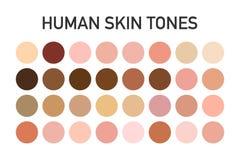 Grupo humano da paleta de cores do tom de pele isolado no fundo transparente Projeto da arte Ilustração do vetor imagens de stock royalty free