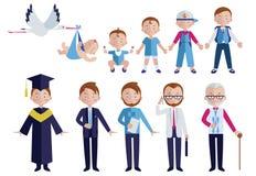 Grupo humano do ícone do envelhecimento ilustração royalty free