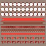 Grupo imprimível de elementos do partido do lenhador do vintage Moldes, etiquetas, ícones e envoltórios Fotografia de Stock Royalty Free
