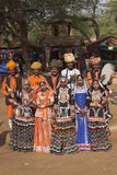 Grupo indiano tradicional da dança foto de stock