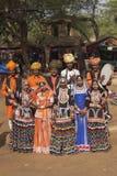 Grupo indio tradicional de la danza Foto de archivo