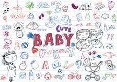 Grupo infantil do ícone ilustração stock