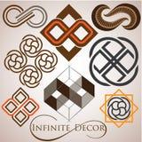 Grupo infinito do logotipo do símbolo Fotografia de Stock Royalty Free
