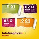 Grupo infographic com fitas rasgadas Fotografia de Stock Royalty Free