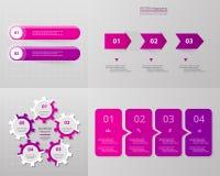 Grupo infographic do círculo do vetor ilustração royalty free