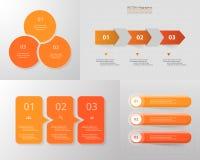 Grupo infographic do círculo do vetor ilustração do vetor