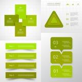 Grupo infographic do círculo do vetor Fotografia de Stock