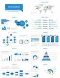 Grupo infographic do detalhe. Fotos de Stock