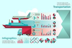 Grupo infographic do transporte Imagem de Stock Royalty Free