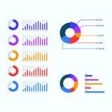 Grupo infographic do vetor do molde do negócio da apresentação Fotografia de Stock