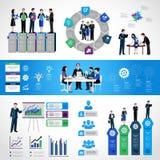 Grupo infographic dos trabalhos de equipa Imagem de Stock