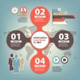 Grupo infographic em trabalhos de equipa no negócio Foto de Stock Royalty Free